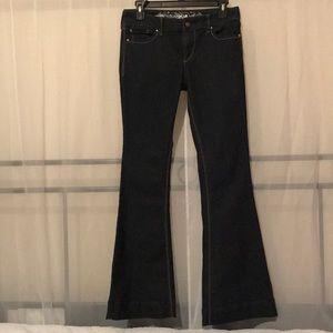 Flare Dark Denim Pants